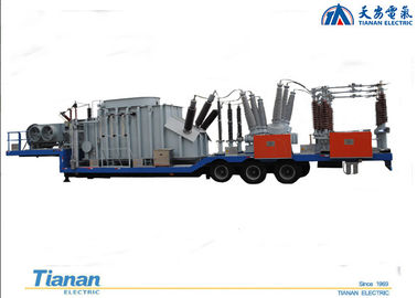 China 132kv Prefabricated Mobile Vehicle Mounted semi-trailer Transformer Substation distributor